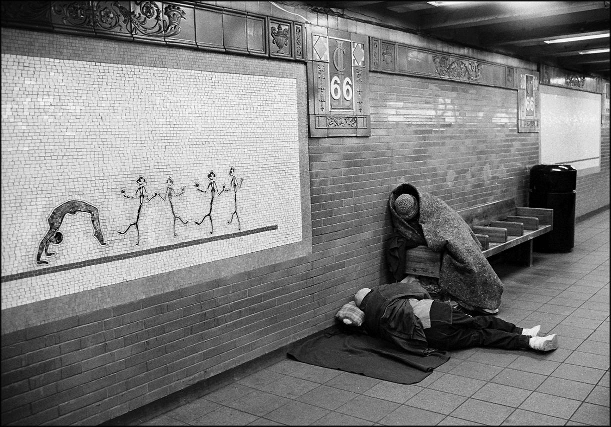 Homeless black and white street photographs of new york city by matt weber