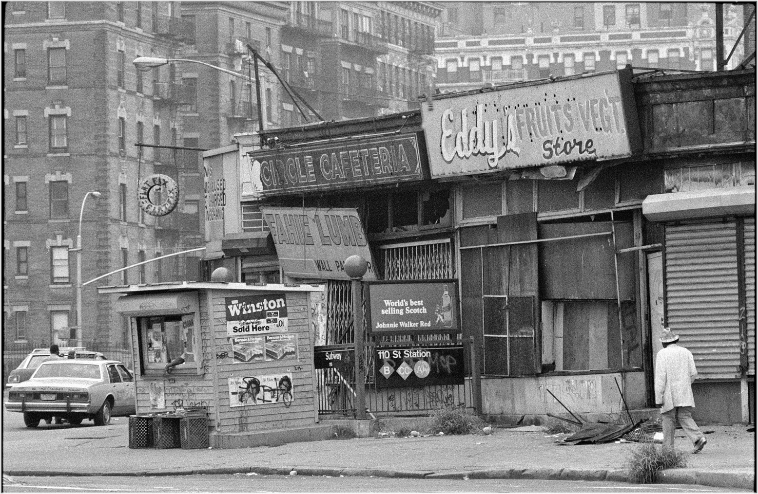 Frederick Douglass Circle Harlem 1985 Black And White