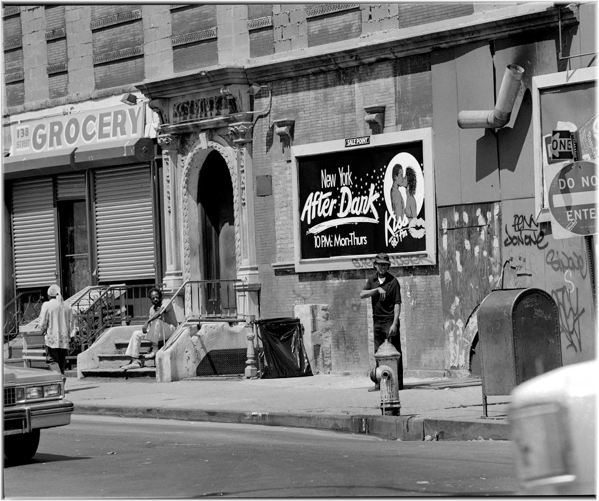 New York After Dark Harlem 1986 Black And White Street