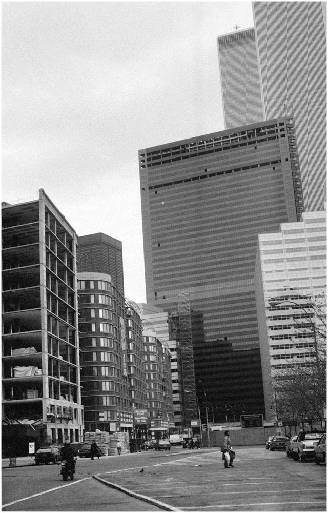 Wtc Tribeca 1987 Copy Black And White Street Photographs