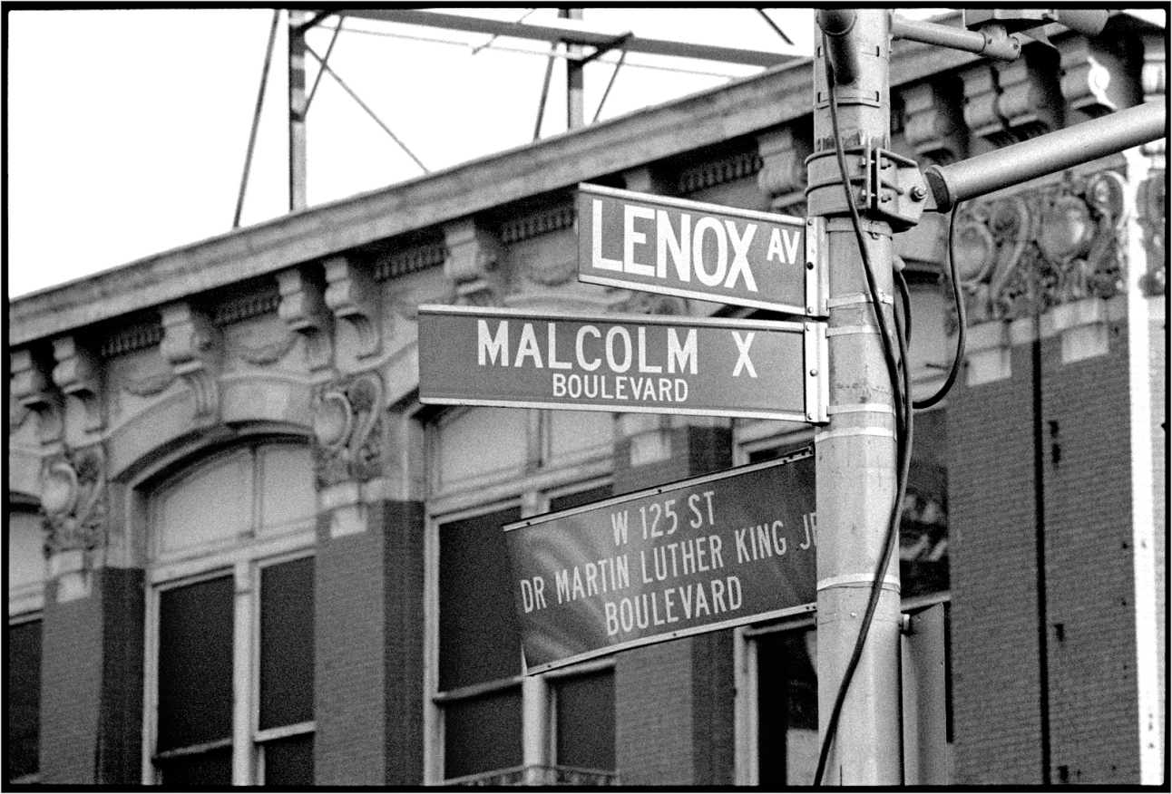 Harlem-MLK-Malcolm-X-Signs-1989 copy