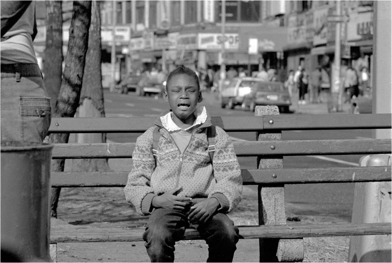 Crying-Black-Girl-Bench-1988 copy