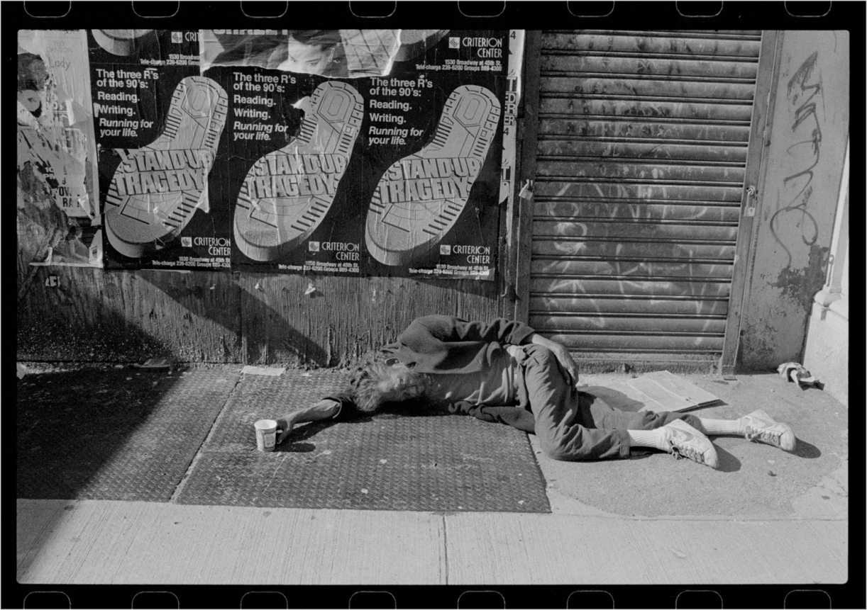 Homeless black and white street photographs of new york city by