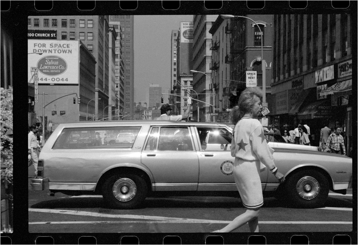 Black And White New York City Taxi
